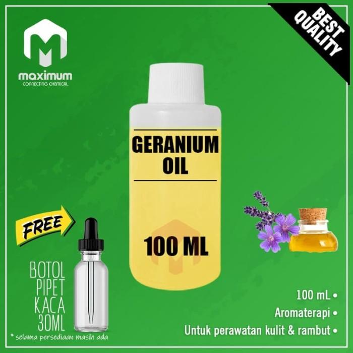 Foto Produk Geranium Essential Oil - Minyak Geranium - Aromatherapy - 100ml dari Maximum Chemical