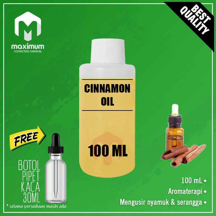 Foto Produk 100% PURE ESSENTIAL OIL (CINNAMON - KAYU MANIS) Aromatherapy - 100ml dari Maximum Chemical