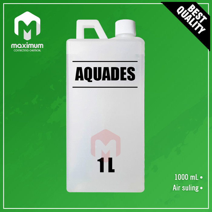 Foto Produk Aquadest / Akuades / Aquades / Air Suling / Air Aki Radiator 1 liter dari Maximum Chemical