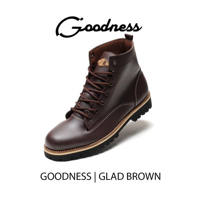 harga Sepatu boots kulit pria formal klasik casual - goodness glad brown - 40 Tokopedia.com