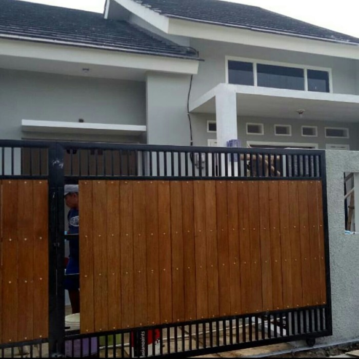 Jual Pagar Dorong Motif Kayu Woodplank Grc Kota Bekasi Karya