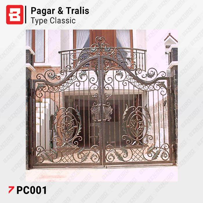 Pagar Rumah Minimalis Stenlis  jual pagar rumah besi classic pagar besi klasik kab tangerang benziro tokopedia