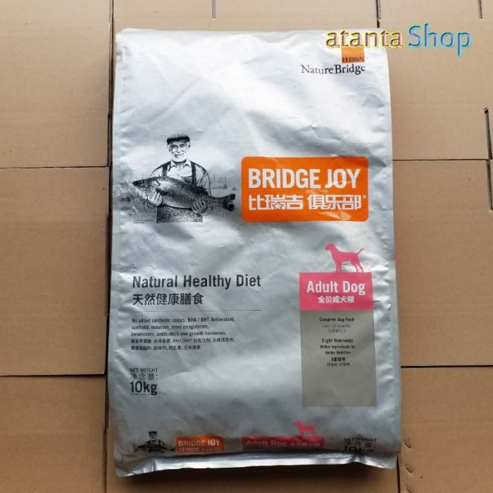 Foto Produk Bridge Joy - 10kg Adult Dog Food makanan anjing dari nature bridge dari atanta Shop