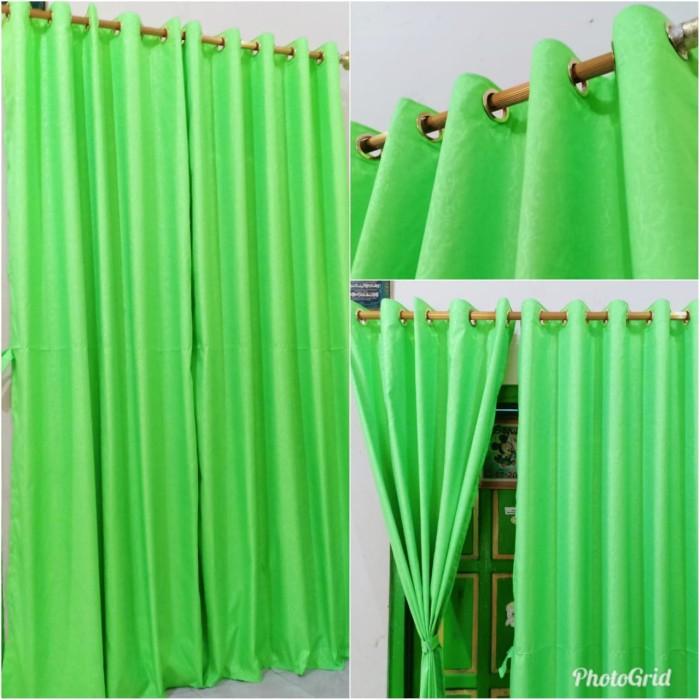 Foto Produk tirai gorden korden kain disperse polos emboss murah dari kios ummi online