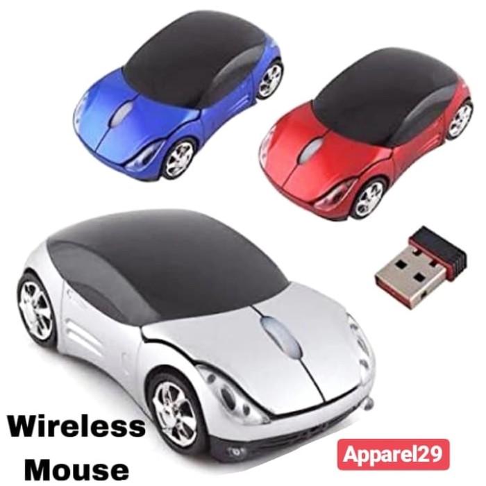 Foto Produk Wireless Car Mouse 2.4Ghz USB Dongle Mouse Mobil TANPA KABEL Wind 7-10 dari apparel29