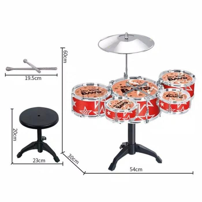 harga Mainan anak mini drum / bermain alat musik drum kecil untuk balita Tokopedia.com