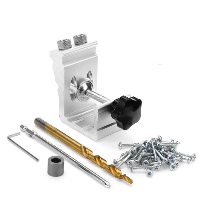 Foto Produk Terlaris Aluminium Alloy 3 in 1 Pocket Hole Jig Kayu Pengeboran dari Nordstrom Store