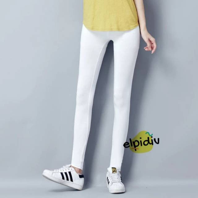 Jual Celana Legging Putih Bahan Licin Spandex Jakarta Barat Selvyshop4 Tokopedia