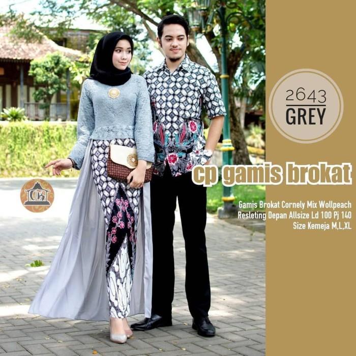 Model Baju Gamis Brokat Couple Terbaru Hijabfest