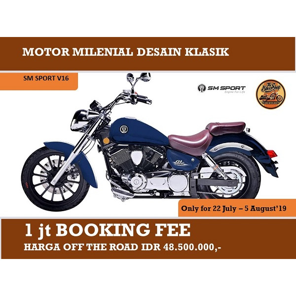 harga Booking fee – sepeda motor sm sport v16 [vin 2019 (off the road)] - putih Tokopedia.com