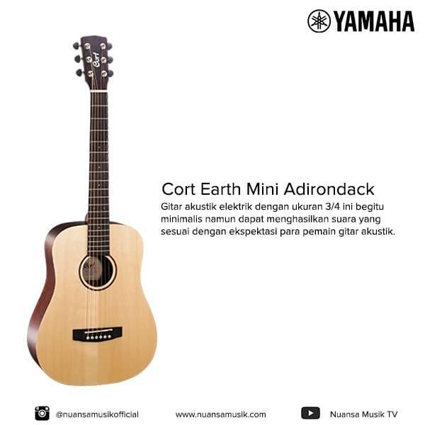 harga Cort earth mini adirondack acoustic electric Tokopedia.com