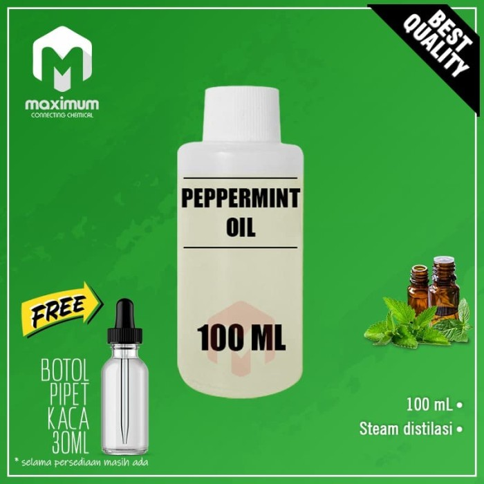 Foto Produk 100% Pure Peppermint Essential Oil / Minyak Mint 100ml dari Maximum Chemical