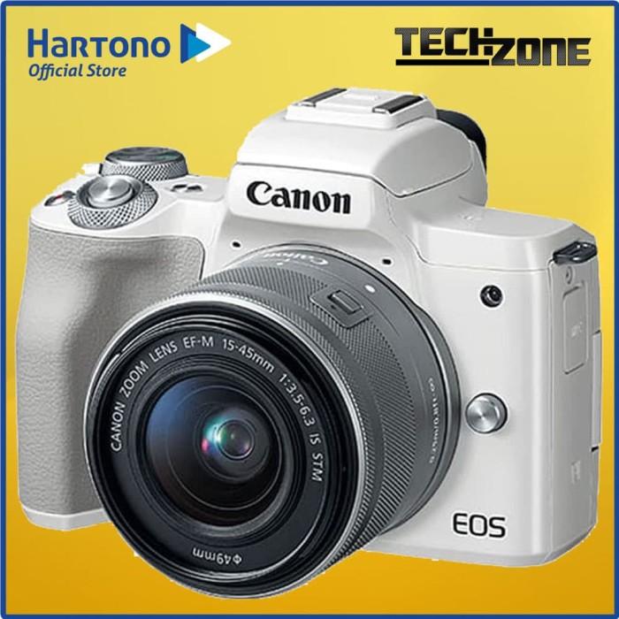 harga Canon - mirrorless camera eos m50 with lens 14-55mm eosm50_1545_wh Tokopedia.com