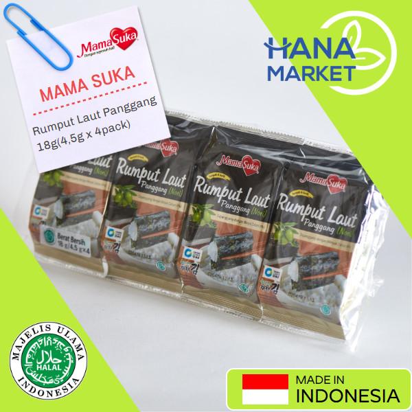 Foto Produk Mamasuka Rumput Laut Panggang 18g(4,5g x 4) / Hana Market dari Hana Market