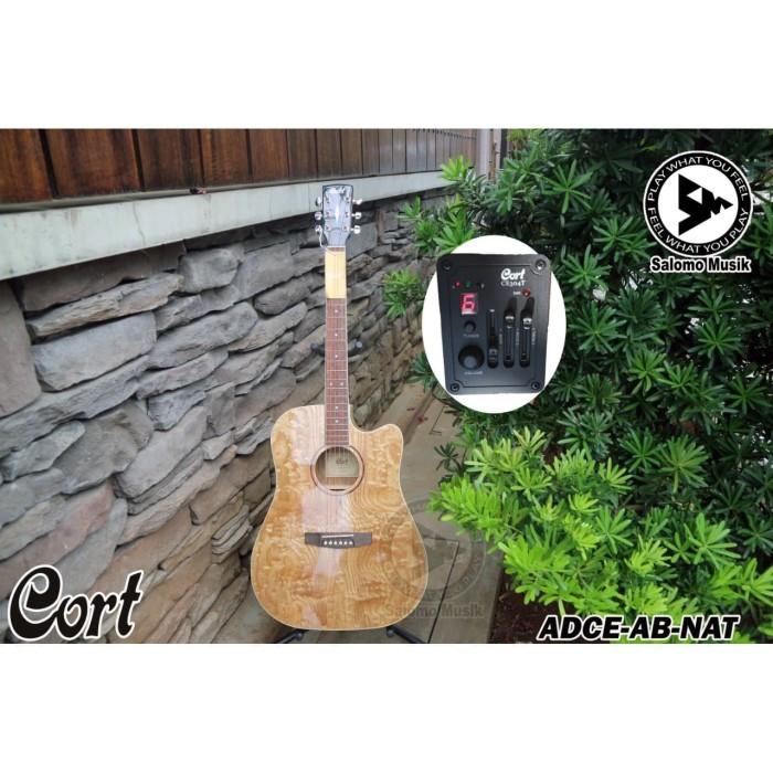 harga Gitar akustik acoustic elektrik electric original cort adce ab nat Tokopedia.com