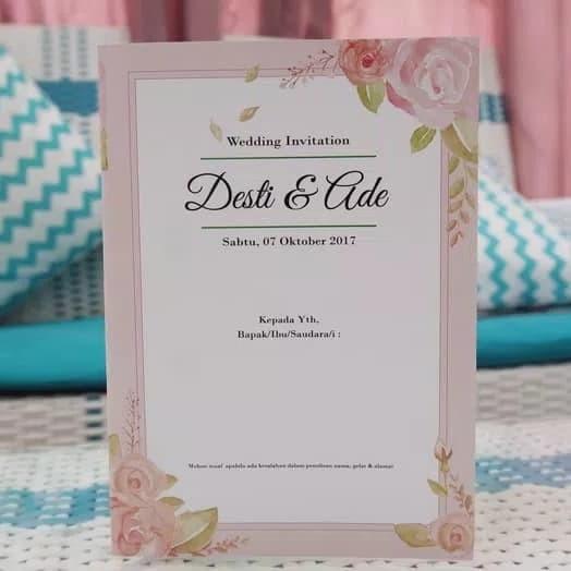 Jual Surat Undangan Pernikahan Kab Bogor Hesti Shop Tokopedia