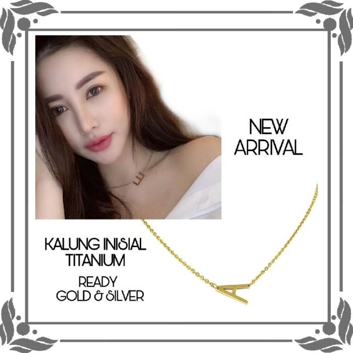 Jual Kalung Huruf Abjad Inisial Titanium Stainless Steel Trend Artis T041 Jakarta Barat Araastianti 13 Tokopedia