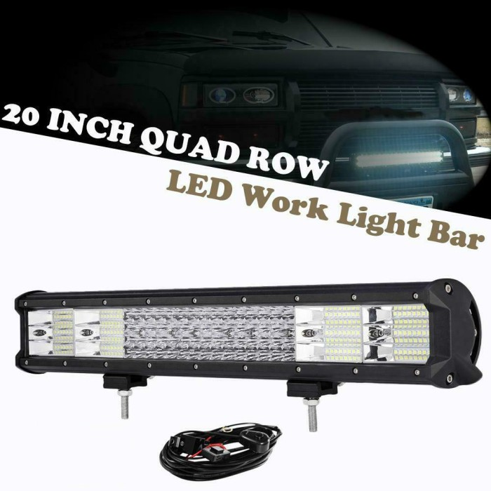20 Inch Led Light Bar >> Jual 20inch Cree 168 Led Light Bar Quad Row Spot Flood Offroad For Jeep Dki Jakarta Lancar Niaga7 Tokopedia