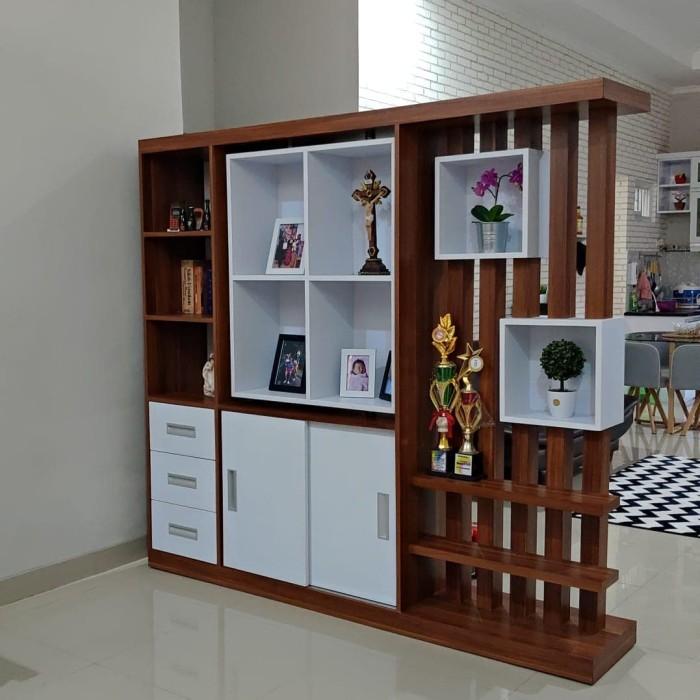 Jual Lemari Divider Penyekat Ruangan Minimalis Custom Di Jakarta