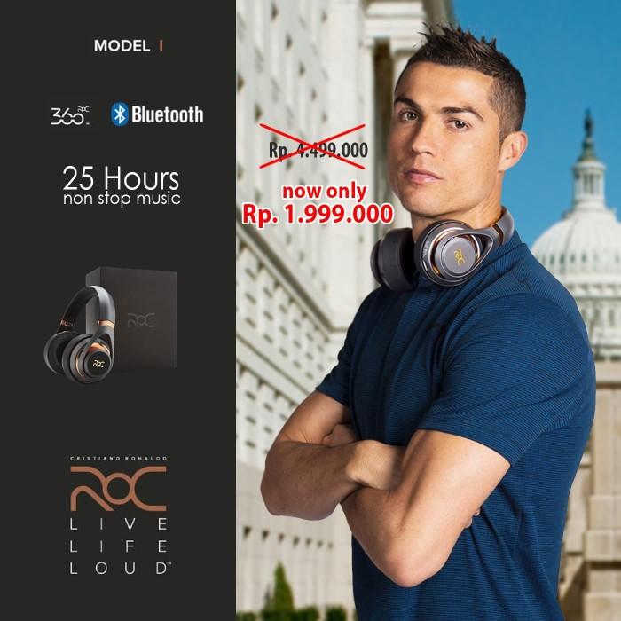 Jual Premium Wireless Headphone ROC I By Cristiano Ronaldo