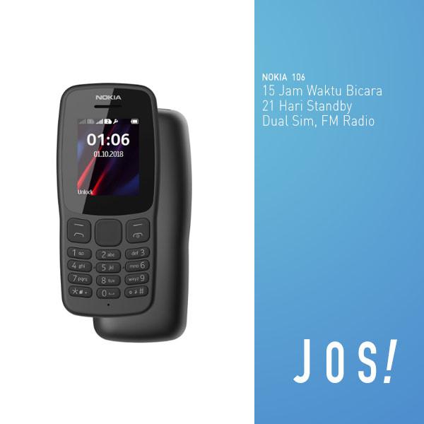 harga Nokia 106 new dual sim garansi resmi - abu-abu Tokopedia.com