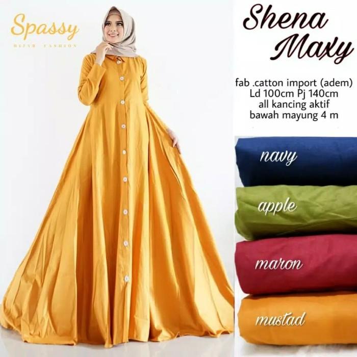 Jual Model Gamis Wanita Terbaru Baju Simple Murah Shena Maxy Kota Surakarta Vqela Shop Tokopedia