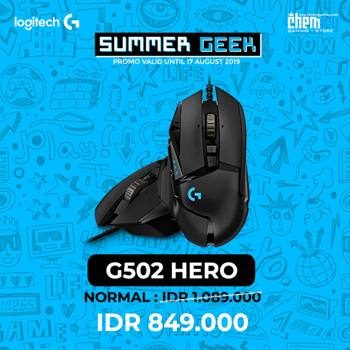 Logitech G502 Hero 16k High Performance Gaming Mouse