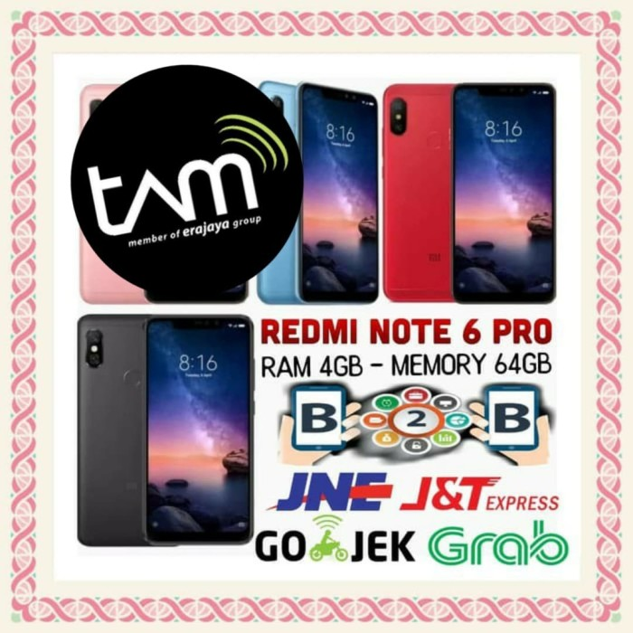 harga Xiaomi redmi note 6 pro 4/64 - ram 4gb - internal 64gb - black tam Tokopedia.com