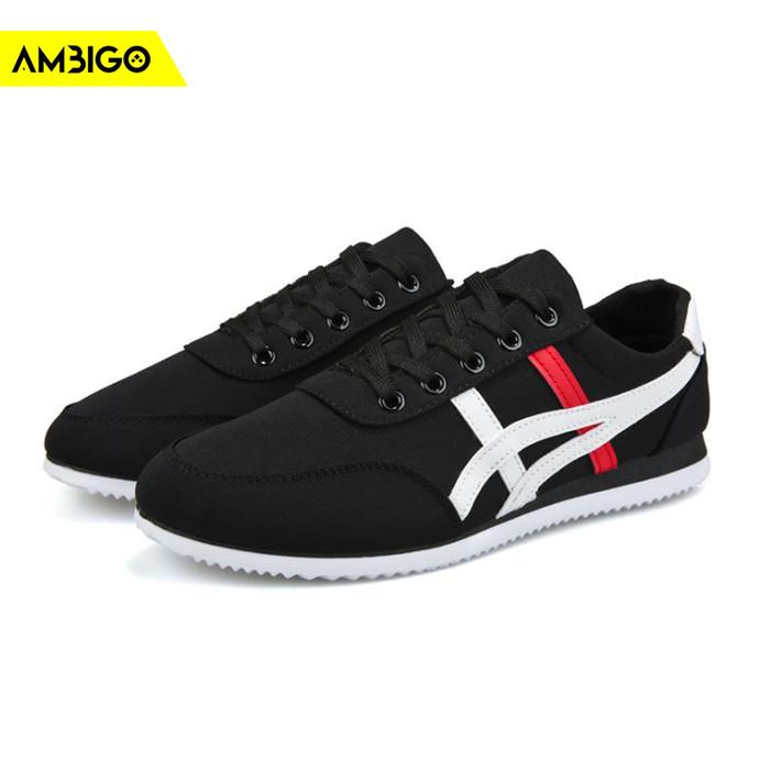 harga Ambigo sneakers u1 low shoes sepatu sneaker pria casual - hitam - hitam 42 Tokopedia.com