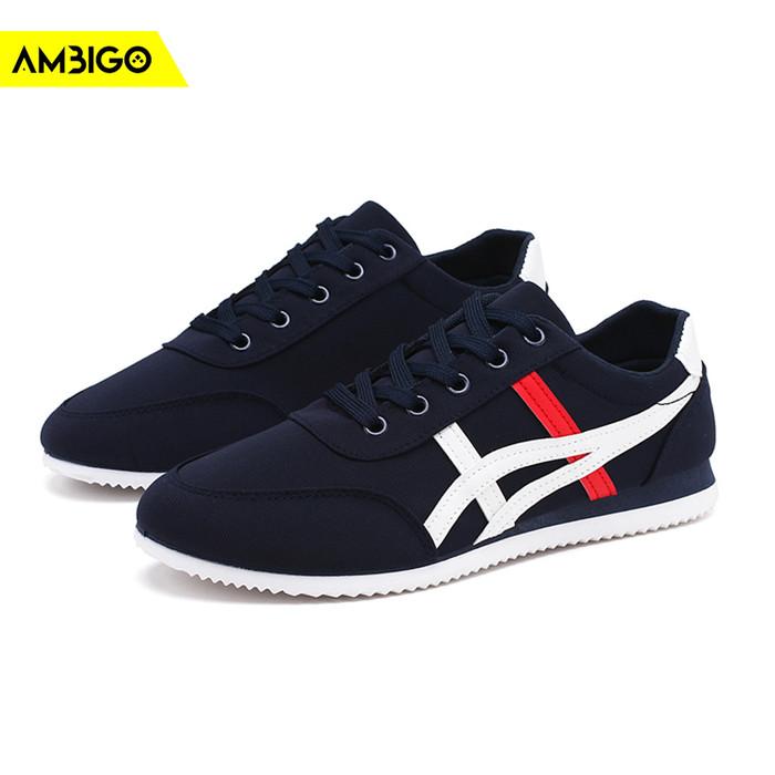 harga Ambigo sneakers u1 low shoes sepatu sneaker pria casual - navy - navy 42 Tokopedia.com