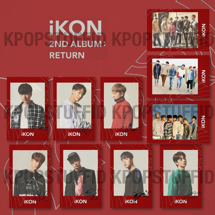 Jual C020 Polaroid KPOP IKON The Return Album Red Version TTD All Member -  Kota Makassar - Kpopstuffidd   Tokopedia