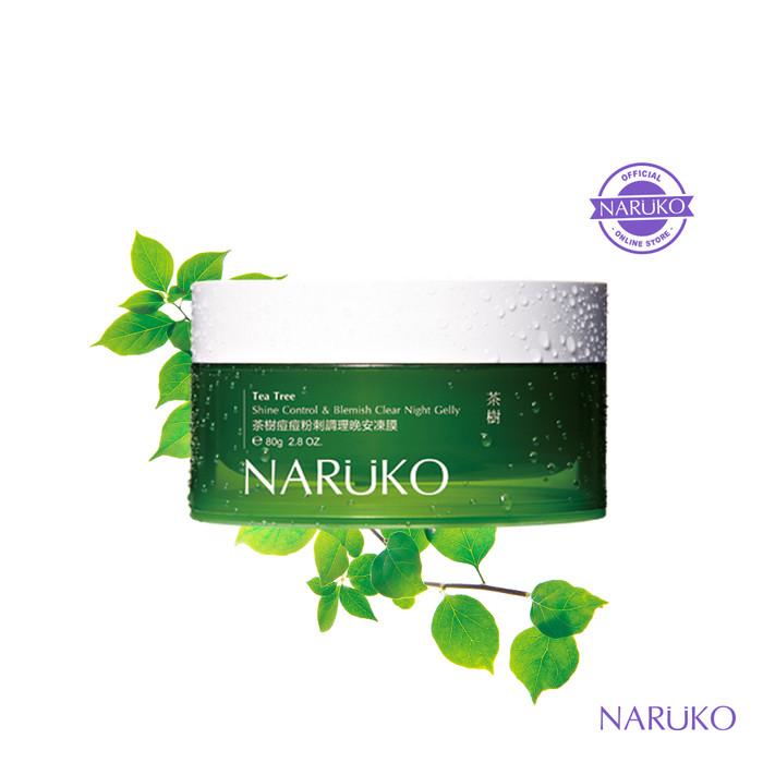 harga Naruko tea tree shine control & blemish clear night gelly 80gr