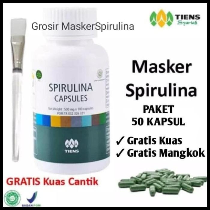 Promo Masker Wajah Spirulina / Herbal / Obat Jerawat - Paket 50 Kapsul