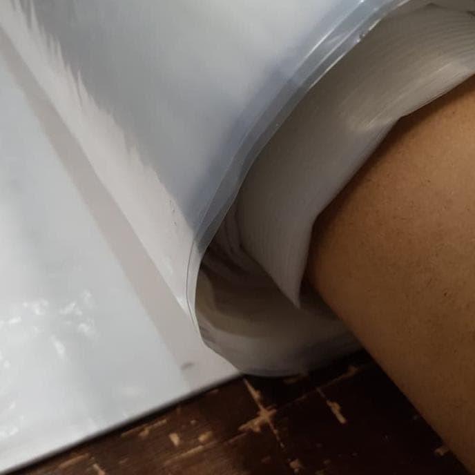 Foto Produk Plastik PE bening lebar 1,5 meter untuk cor, tutup kasur, bungkus sofa dari bambangwaluya205