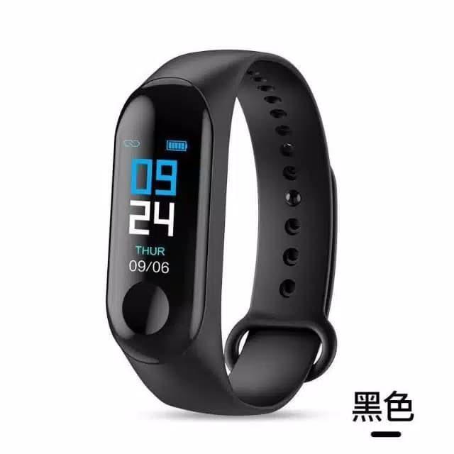 harga Smart wacth m3 plus dengan detak jantung monitor Tokopedia.com