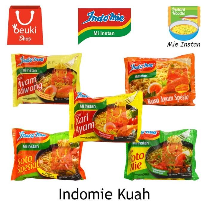 Jual Indomie Kuah Mie Instan Kuah Aneka Rasa Soto Ayam Kari 70gr Ayam Bawang Kota Bandung Beuki Shop Tokopedia