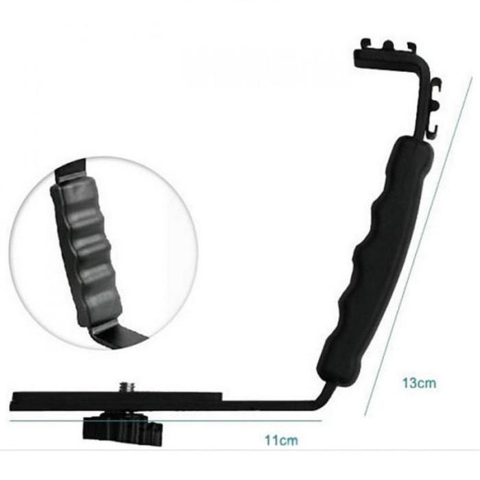 Foto Produk Kernel L Bracket Flash Light Adjustable Holder Mount for DSLR Camera dari sensordigital