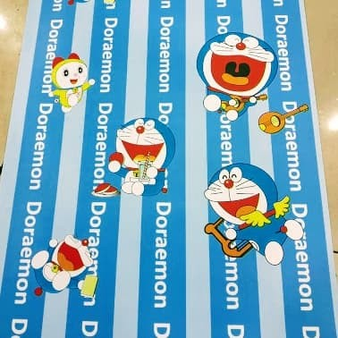 Jual Wallpaper Sticker Dinding Motif Doraemon Warna Biru Putih