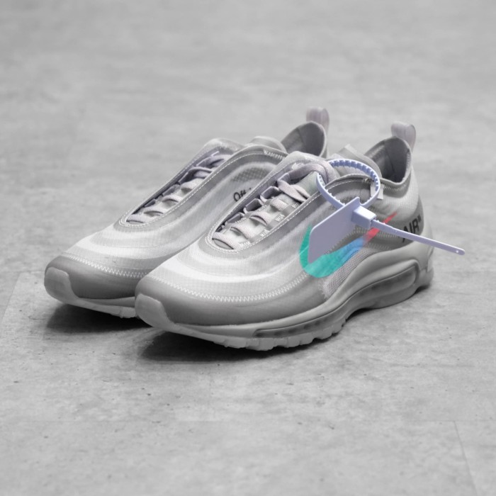 Unisex Off white x Nike Air Max 97 Menta White Blue AJ4585