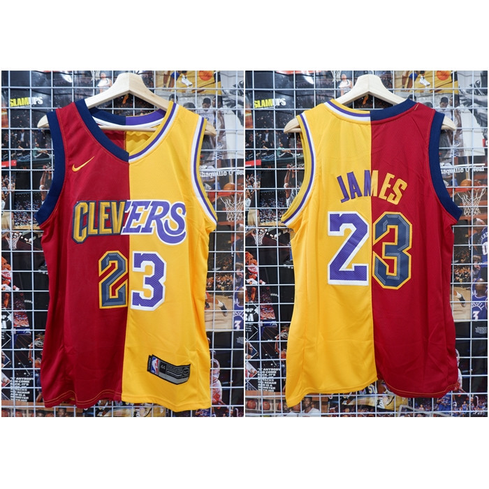 super popular c8e05 8a9fe Jual Jersey NBA Split Jersey Cavs X Lakers #23 James Maroon Kuning - Kota  Batam - AJ Basketball Store | Tokopedia