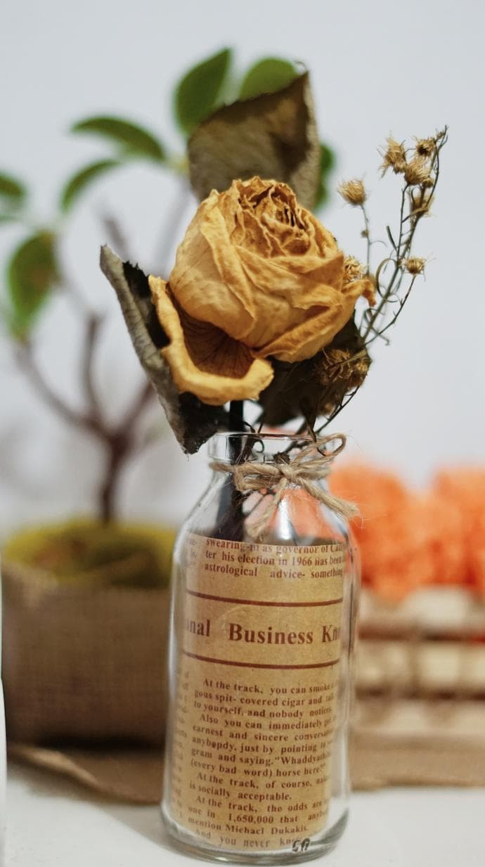 Jual HOT SALE Pot Botol Kaca Vintage Untuk Bunga Kering Hiasan Meja Jakarta Timur Nursetia