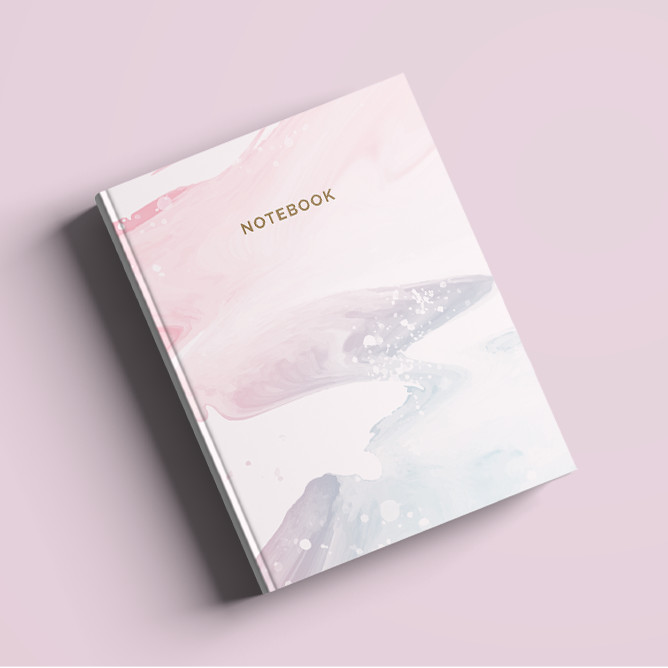 Foto Produk Notebook Custom A5 - Soft Marble - Hardcover | Journal | Planner - Bookpaper Polos dari The Book ID