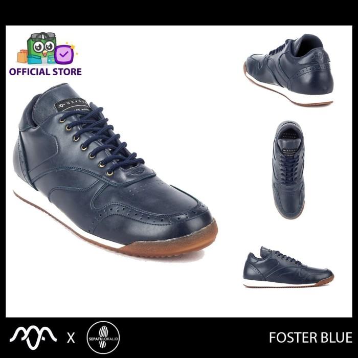 harga Navara foster blue - sepatu sneakers casual kulit pria kasual cowok - 39 Tokopedia.com