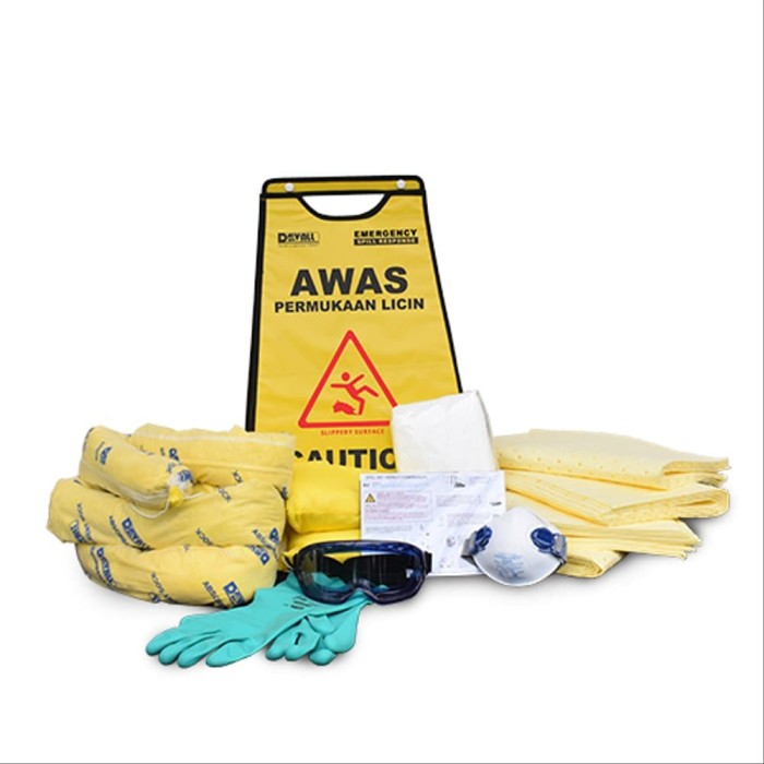 50L Chemical Spill Kit in Wall Cabinet CSKW