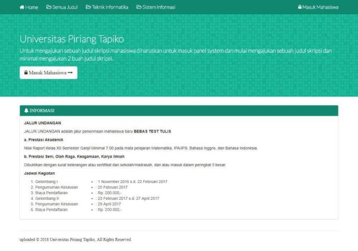 Jual Web Aplikasi Sistem Pengajuan Judul Skripsi Sijuri Kab