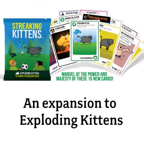 Foto Produk Streaking kittens (2nd expansion to the Exploding kittens) Card Game dari Mainan Kreatif Anak