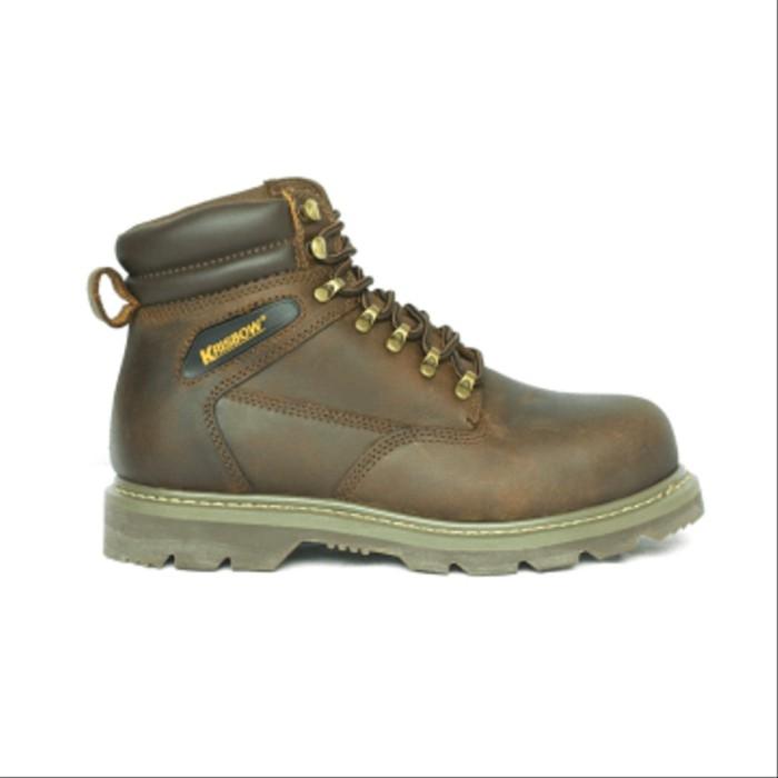 Jual Safety Shoes Vulcan Krisbow Coklat Sepatu Safety
