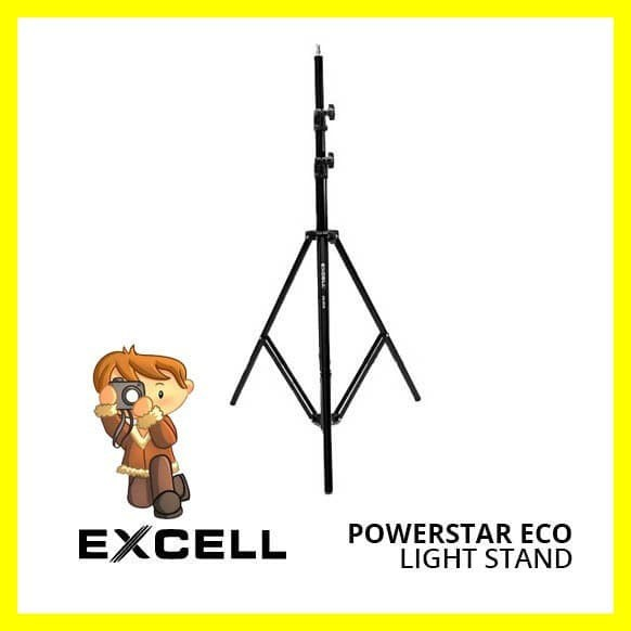 Foto Produk Excell Light Stand Tripod Power Star Eco Lampu Flash Studio Kamera dari Iyesh Online Store