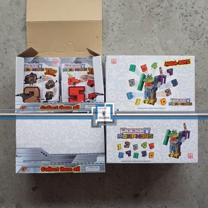 Foto Produk Emco POCKET MORPHERS Set / Robot Angka Transformers bisa Gabung dari Toysgraphy