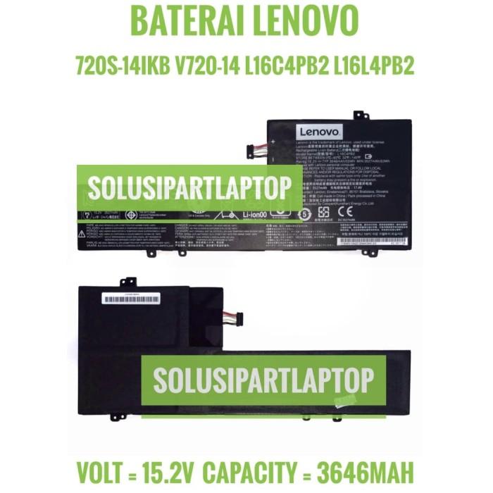 harga Baterai lenovo 720s-14ikb v720-14 l16c4pb2 l16l4pb2 l16m4pb2 original Tokopedia.com